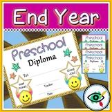 End of year star diploma Preschool