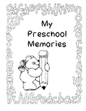 Preschool end of year memory book