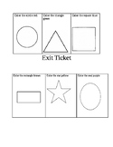 Preschool exit ticket shapes