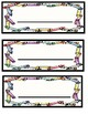 Preschool first day and name plates
