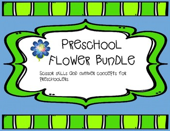 Preschool flower theme pack