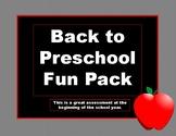 Preschool fun pack, welcome back to school