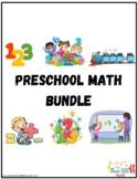 Preschool math activity bundle Preschool math worksheet Pr