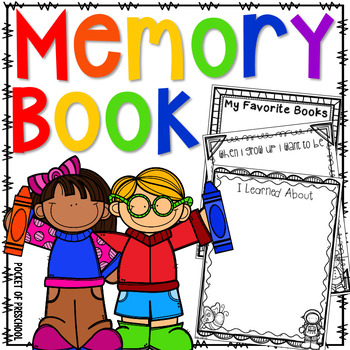 End of the Year Memory Book for Preschool, Pre-K, and Kindergarten
