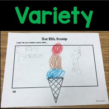 Preschool or Kindergarten Write and Draw Journal Writing Prompts BUNDLE