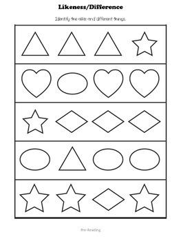 Preschool or Pre-K Assessment Packet