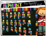 Preschool or Pre-Reader Word Wall ~ Letters