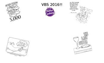 Preschool placemat VBS Home Cookin'