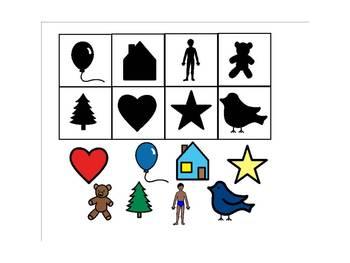 Preschool shadow theme SMART board activity