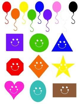 Preschool shapes and color assessment