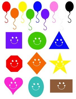 Preschool shapes and color assessment