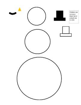 Preschool snowman template and lesson- Winter