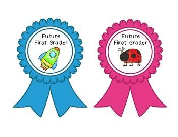 Preschool to First Grade Ribbons