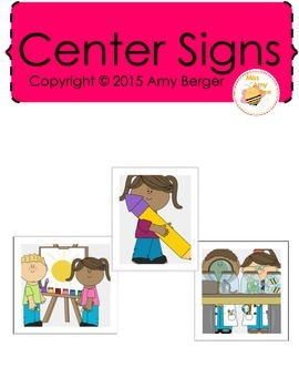 Preschool/Pre-K Center Signs Full Version