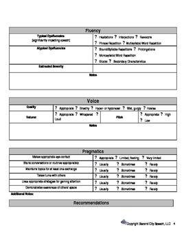 Preschooler Speech and Language Screener Ages 2-3