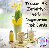 Present AR Infinitive Verb Conjugation Task Cards