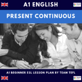 Present Continuous A1 Beginner Lesson Plan For ESL