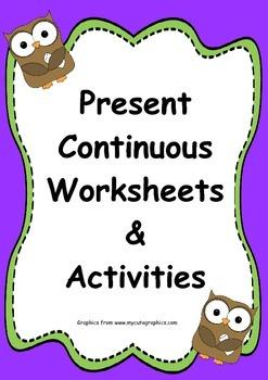 Present Continuous Activities & Worksheet
