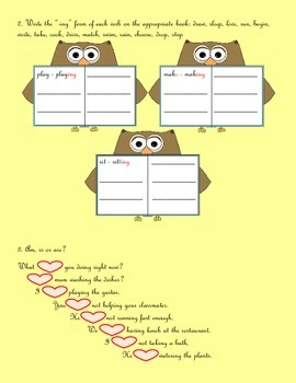 Present Continuous, Booklet and Worksheet
