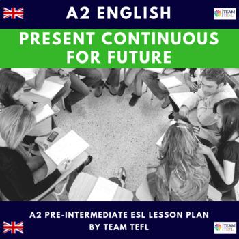 Present Continuous For Future A2 Pre-Intermediate Lesson Plan For ESL