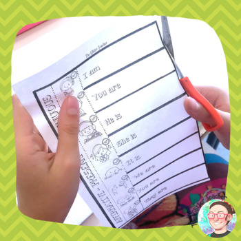Present Continuous - Interactive Notebook Printable