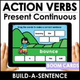 Action Verb BOOM CARDS™    Present Continuous Sentence Bui