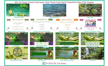 Present Continuous Tense Flying Frogs English PowerPoint Game