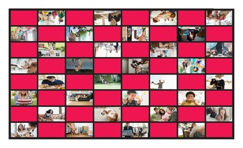 Present Continuous Tense Legal Size Photo Checkers Game