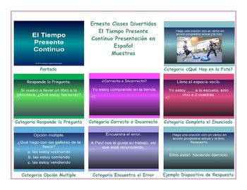 Present Continuous Tense Spanish PowerPoint Presentation