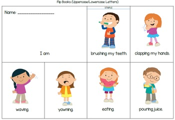 Present Continuous and Vocabulary Games (Kindergarten and ESOL)