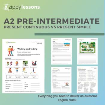 Present Continuous vs Present Simple : ESL/EFL Pre-Intermediate Lesson Plan