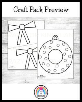 Christmas Craft Pack: Present, Candy Cane, Ornaments, Wreath