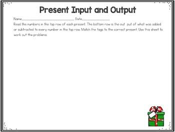 Present Input and Output Center