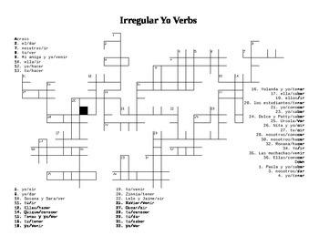 Present Irregular Yo Verbs Review
