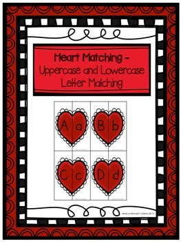 Heart Matching- Uppercase and Lowercase Letter Matching