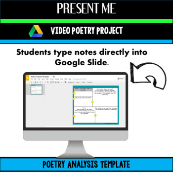 Poetry Analysis and Technology Poetry Project - Present Me Video - for ANY Poem