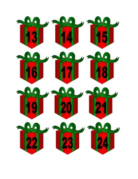 Present Numbers for Calendar or Math Activity
