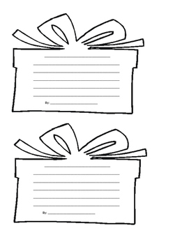 Present Paper for Creative Holiday Writing