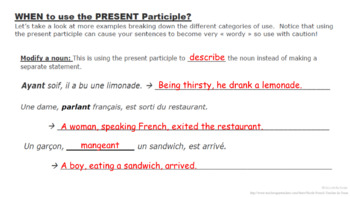 Present Participle: French Quick Lesson
