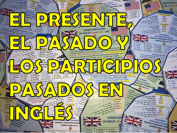 Present, Past and Past Participles in English. (19 Verb Wheels).