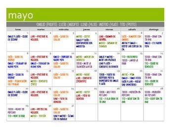 Spanish Present Perfect Calendar Activity