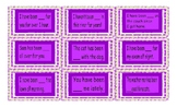 Present Perfect Continuous Tense Legal Size Text Card Game