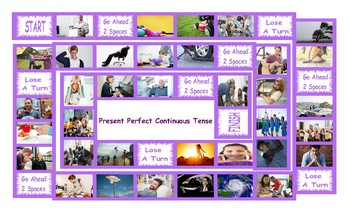 Present Perfect Continuous Tense Legal Size Photo Board Game