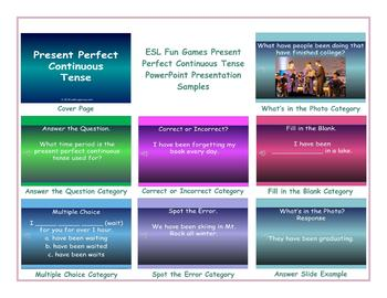 Present Perfect Continuous Tense PowerPoint Presentation