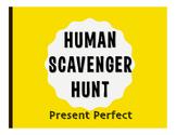 Spanish Present Perfect Human Scavenger Hunt