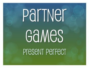 Spanish Present Perfect Partner Games