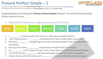 Present Perfect Simple - Activity-Sheet-1
