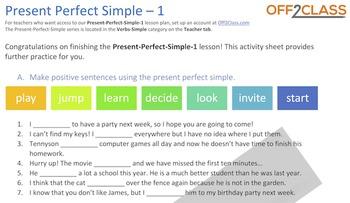 Present Perfect Simple - Activity-Sheet-1 (AnswerKey)