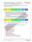 Present Perfect Simple - Activity Sheet - 3 (Answer Key)