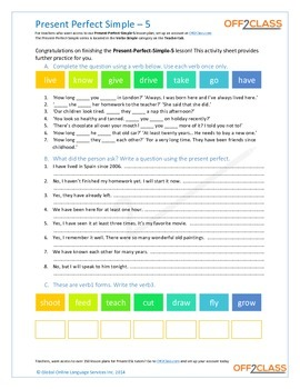 Present Perfect Simple - Activity Sheet - 5